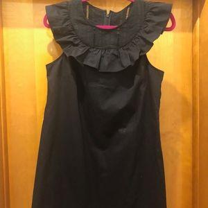 *NWT* J.Crew Black Bib and Ruffle Dress